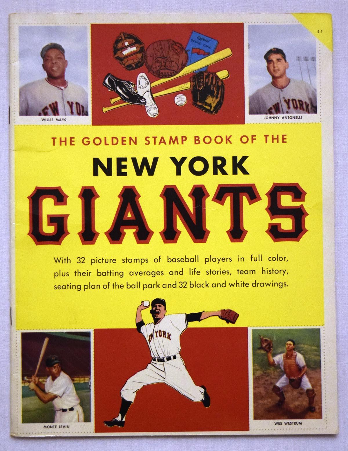 1955   New York Giants Golden Book Ex-Mt