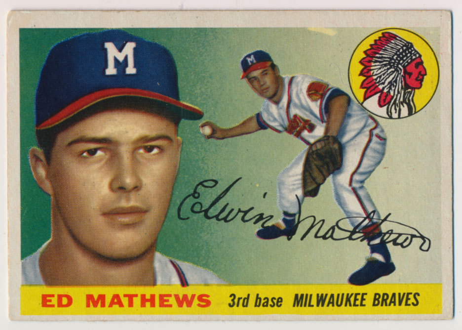 Lot #812 1955 Topps # 155 Mathews  Cond: VG-Ex/Ex