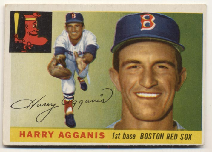 Lot #394 1955 Topps # 152 Agganis RC Cond: VG-Ex/Ex