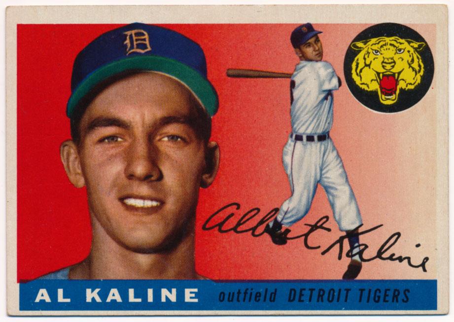 Lot #808 1955 Topps # 4 Kaline Cond: VG-Ex/Ex