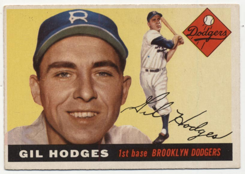 Lot #528 1955 Topps 187 Hodges VG+