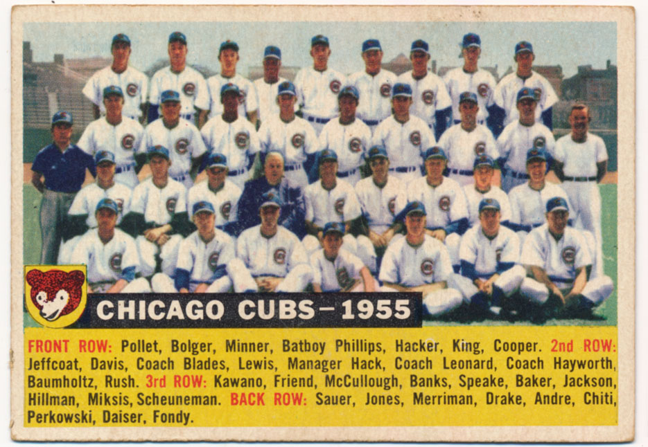 Lot #595 1956 Topps # 11.2 Cubs TC Dated '55 Cond: VG-Ex/Ex