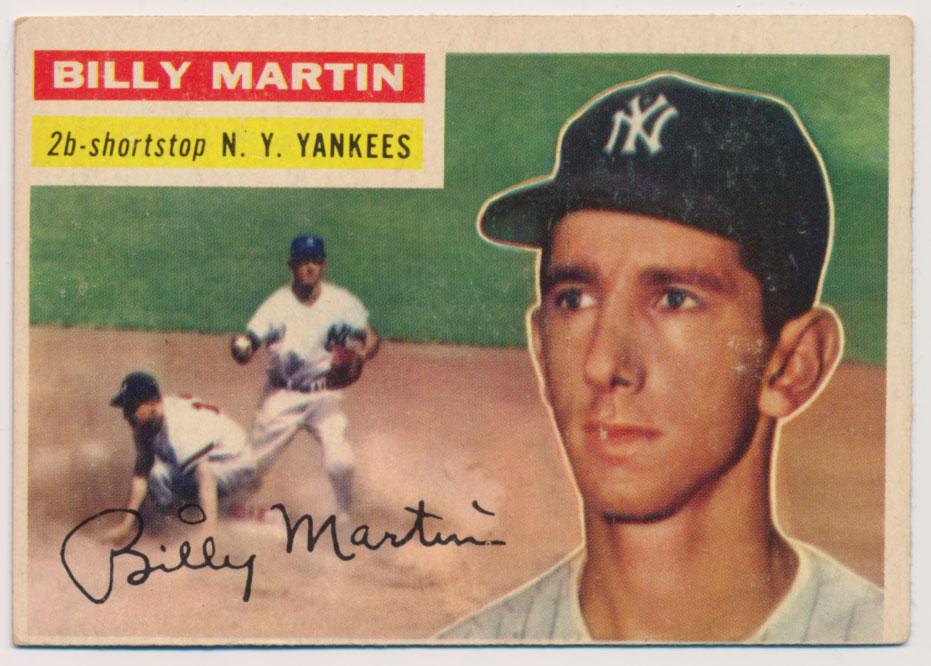 Lot #837 1956 Topps # 181 B Martin Cond: VG-Ex