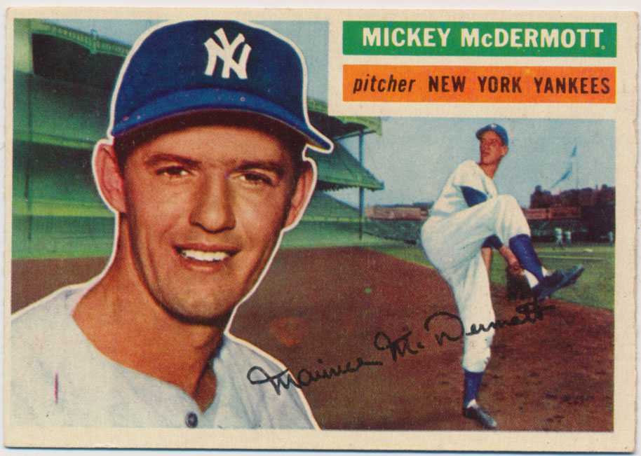 Lot #853 1956 Topps # 340 McDermott Cond: Ex