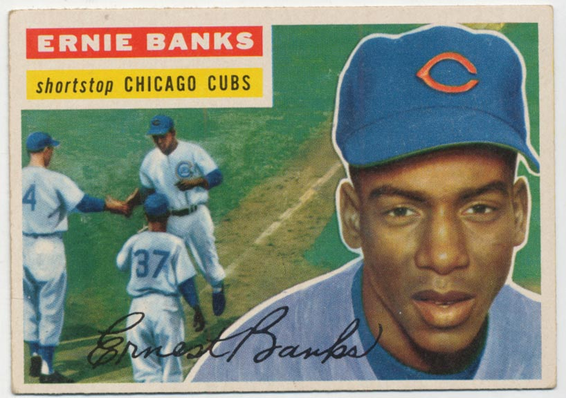 Lot #543 1956 Topps # 15 Banks Cond: Ex