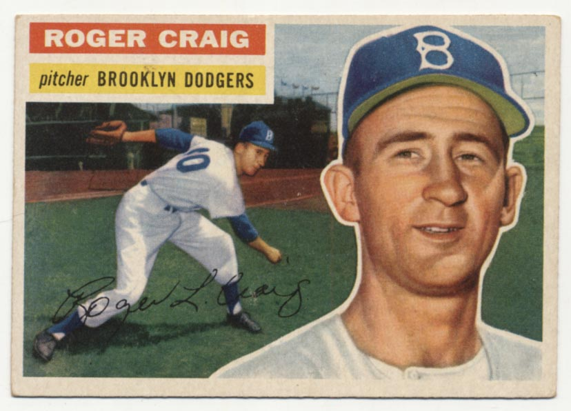 Lot #415 1956 Topps # 63 Craig RC Cond: Ex+