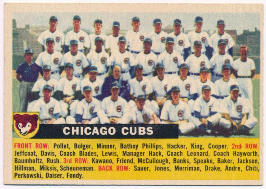 Lot #818 1956 Topps # 11 Cubs TC Cond: Ex-Mt