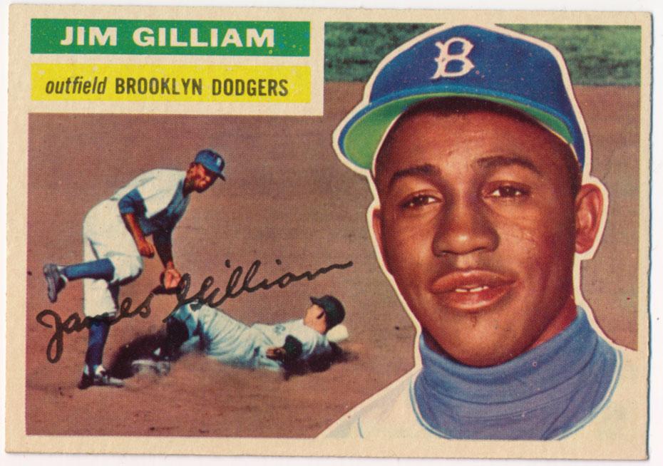 Lot #850 1956 Topps # 280 Gilliam Cond: Ex-Mt+