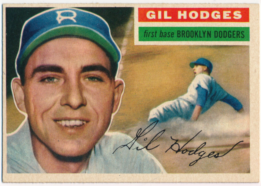 Lot #833 1956 Topps # 145 Hodges Cond: Ex-Mt