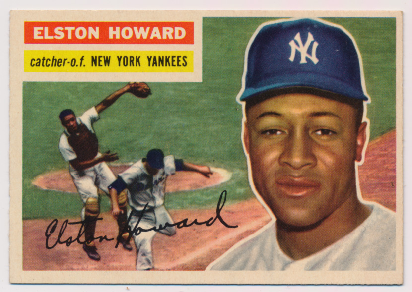 Lot #465 1956 Topps # 208 E Howard FTC Cond: Ex-Mt+