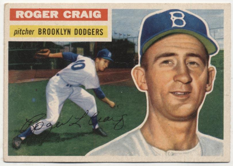 Lot #822 1956 Topps # 63 Craig RC Cond: Ex-Mt