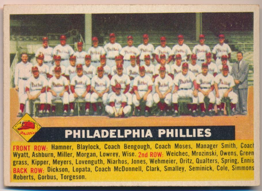 Lot #824 1956 Topps # 72 Phillies TC Ctd Cond: Ex