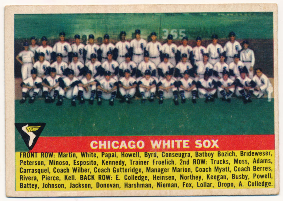 Lot #839 1956 Topps # 188 White Sox TC Cond: Ex+