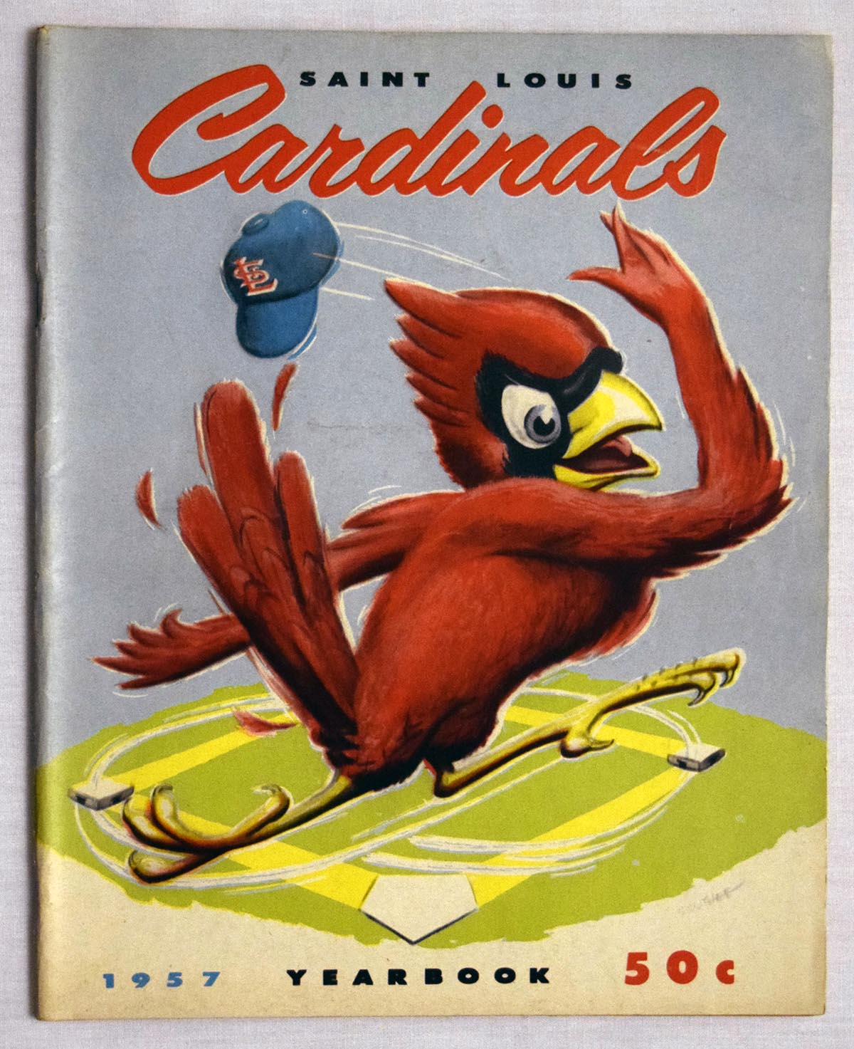 Lot #1422 1957 Yearbook  St Louis Cardinals Cond: Ex-Mt