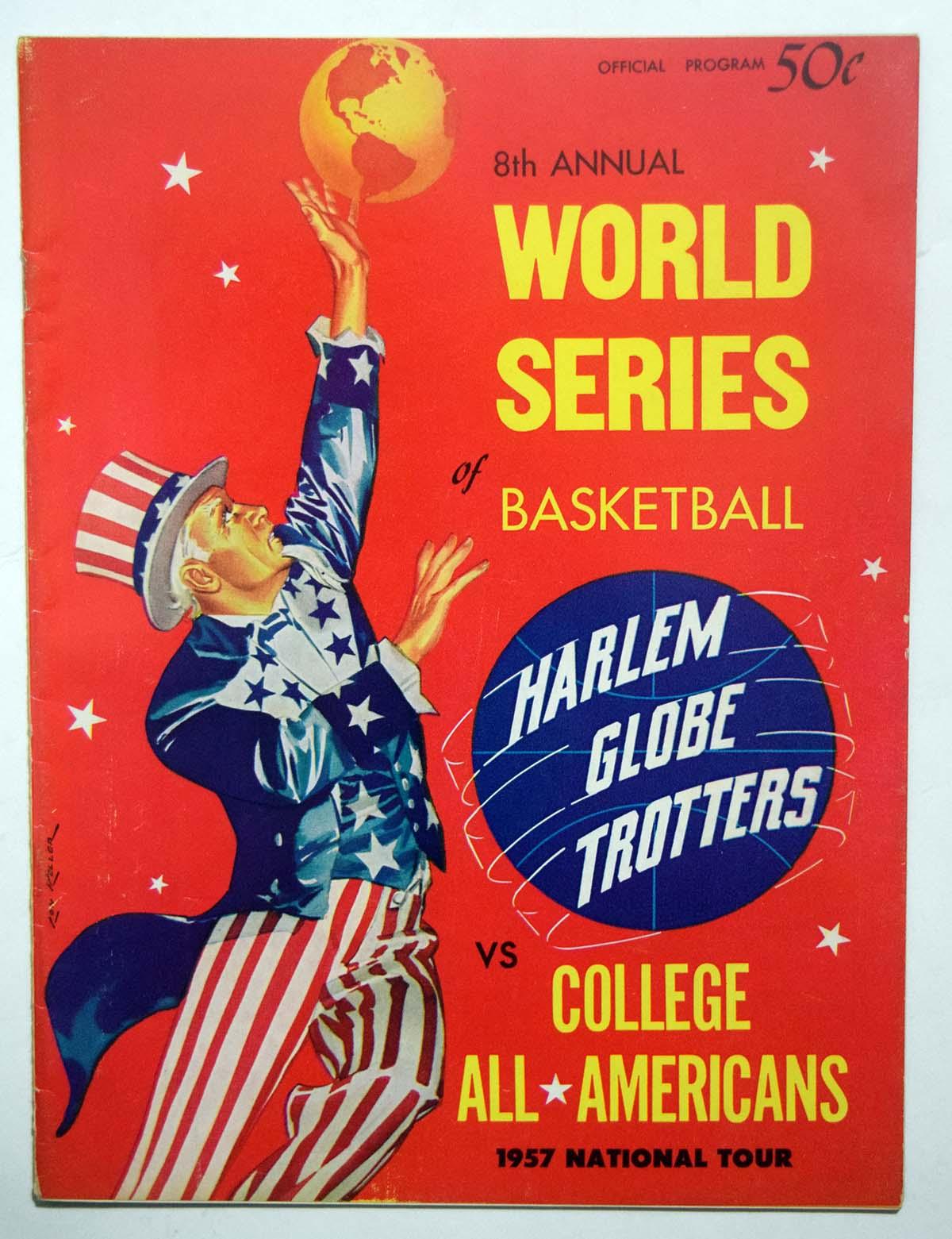Lot #972 1957 Program  College All-American - Harlem Globetrotters Cond: Ex-Mt