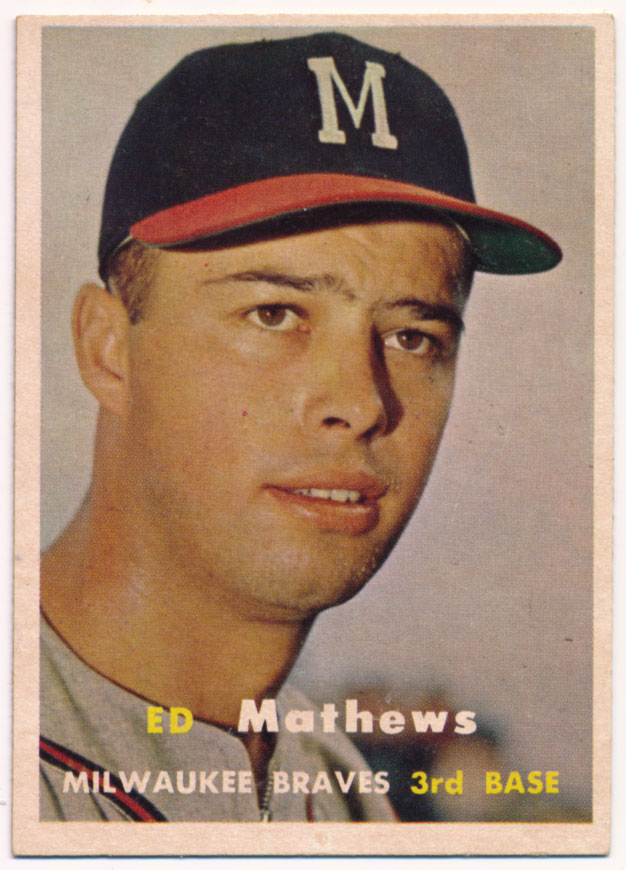 Lot #879 1957 Topps # 250 Mathews Cond: Ex-Mt