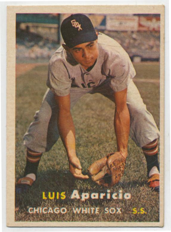 Lot #452 1957 Topps # 7 Aparicio Cond: VG-Ex/Ex