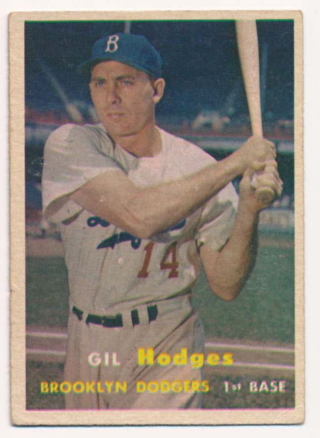 Lot #483 1957 Topps # 80 Hodges Cond: VG+