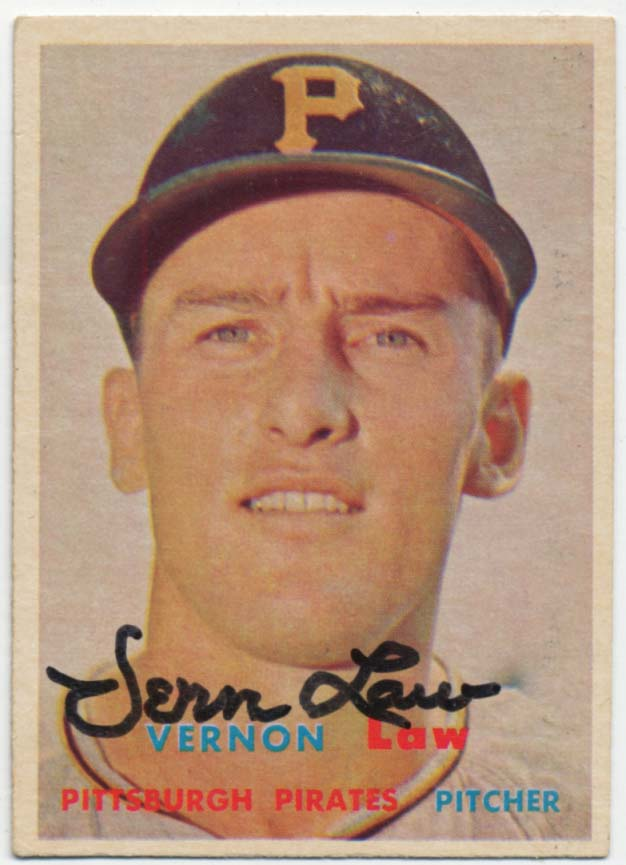 Lot #36 1957 Topps # 199 Law Cond: 9.5