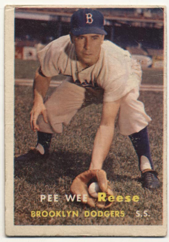 Lot #459 1957 Topps # 30 Reese Cond: VG+