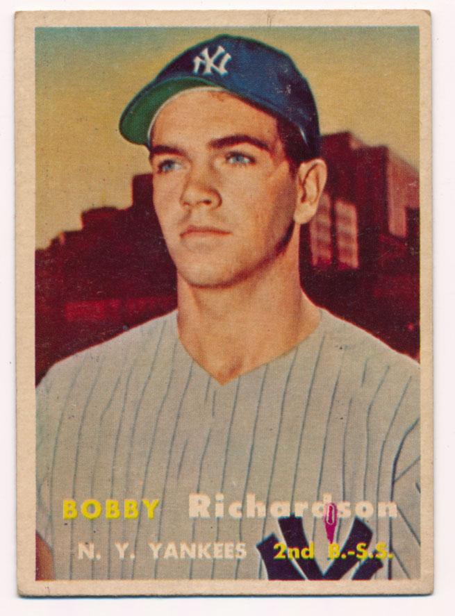 Lot #659 1957 Topps # 286 Richardson RC Cond: VG-Ex