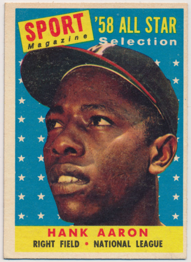 Lot #910 1958 Topps # 488 Aaron AS Cond: Ex++