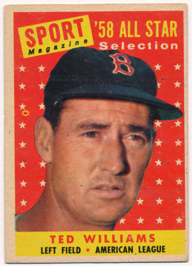 Lot #534 1958 Topps # 485 Ted Williams AS Cond: Ex