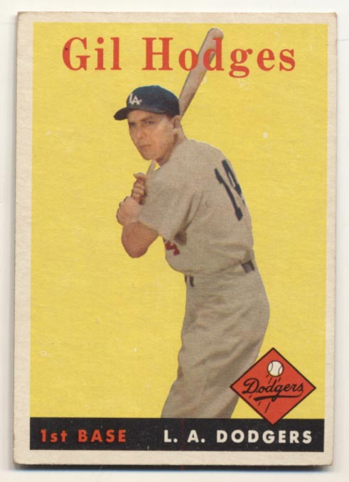 Lot #830 1958 Topps # 162 Hodges Cond: Ex