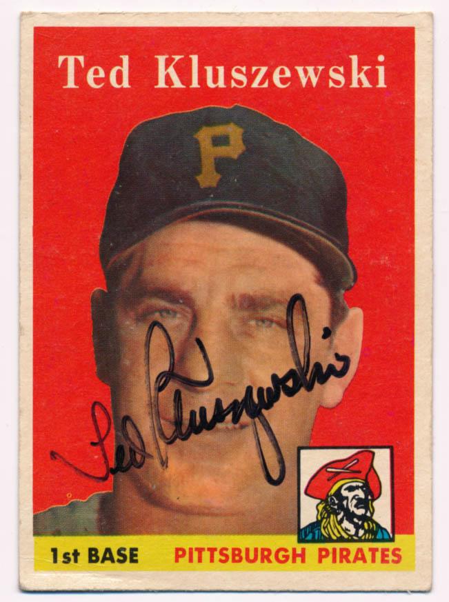 Lot #20 1958 Topps # 178 Ted Kluszewski (JSA LOAA) Cond: 8