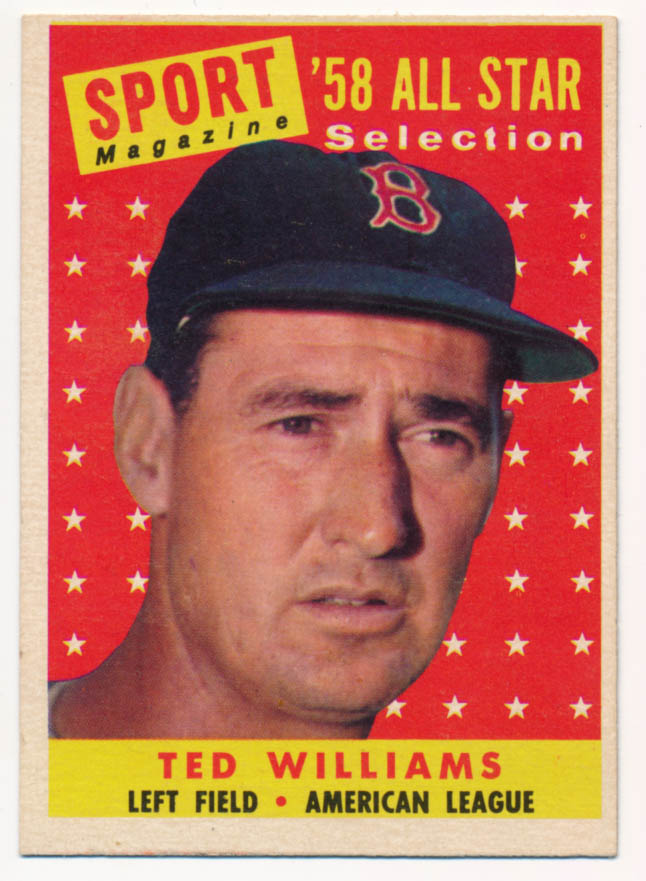 Lot #697 1958 Topps # 485 Williams AS Cond: Ex-Mt