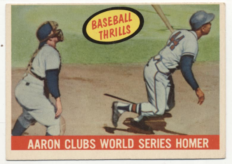 Lot #549 1959 Topps # 467 Aaron Clubs HR Cond: Ex