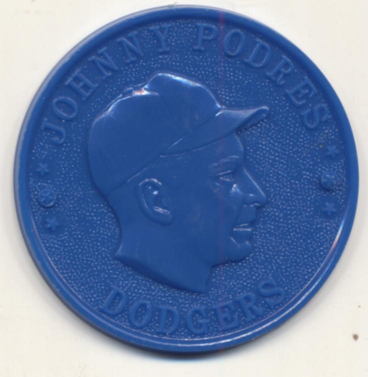 Lot #80 1959 Armour Coins  Podres, Johnny Cond: Nm-Mt