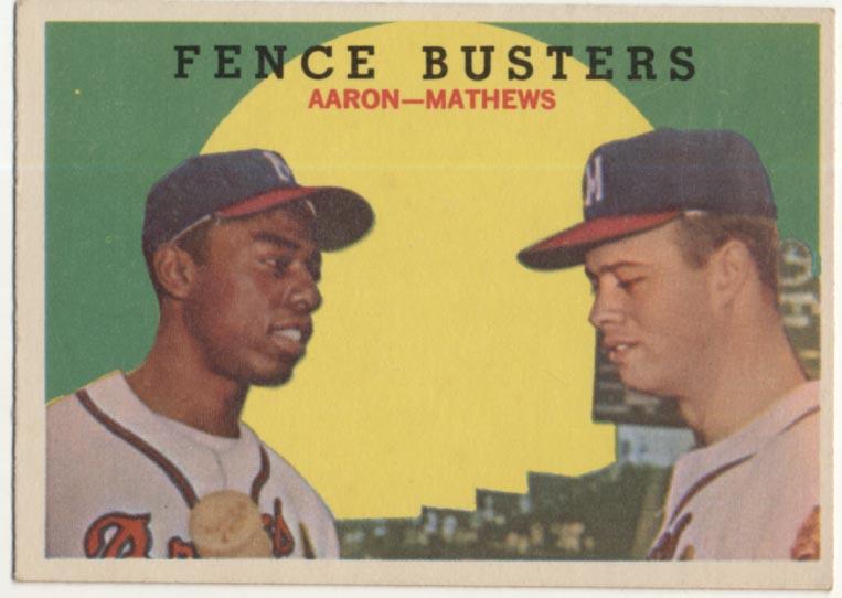 Lot #543 1959 Topps # 212 Aaron/Mathews Cond: Ex++