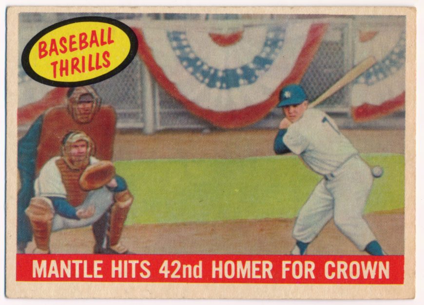 1959 Topps 461 Mickey Mantle HR Ex
