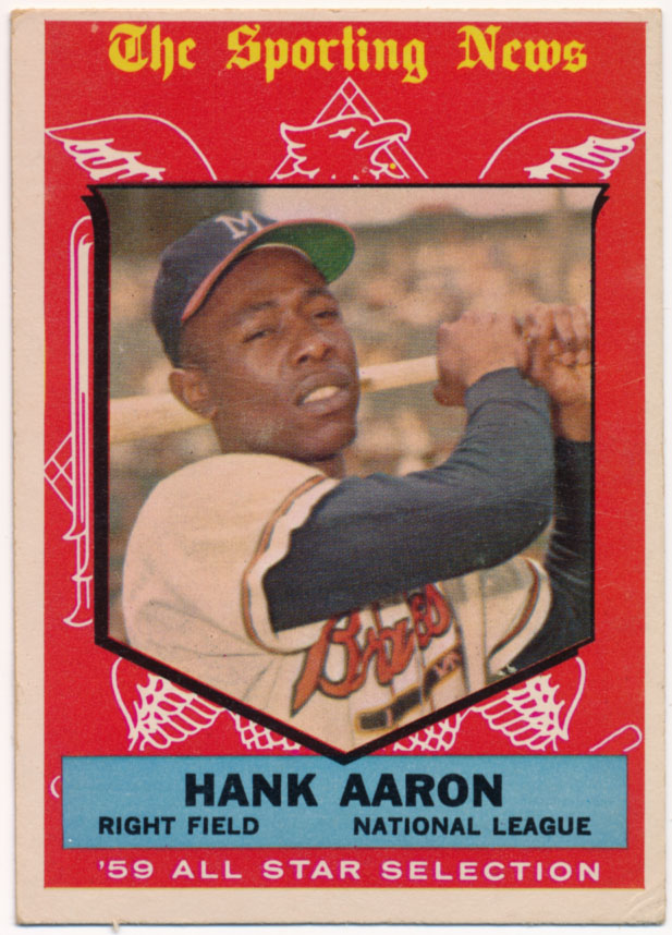 1959 Topps 561 Aaron AS VG-Ex/Ex