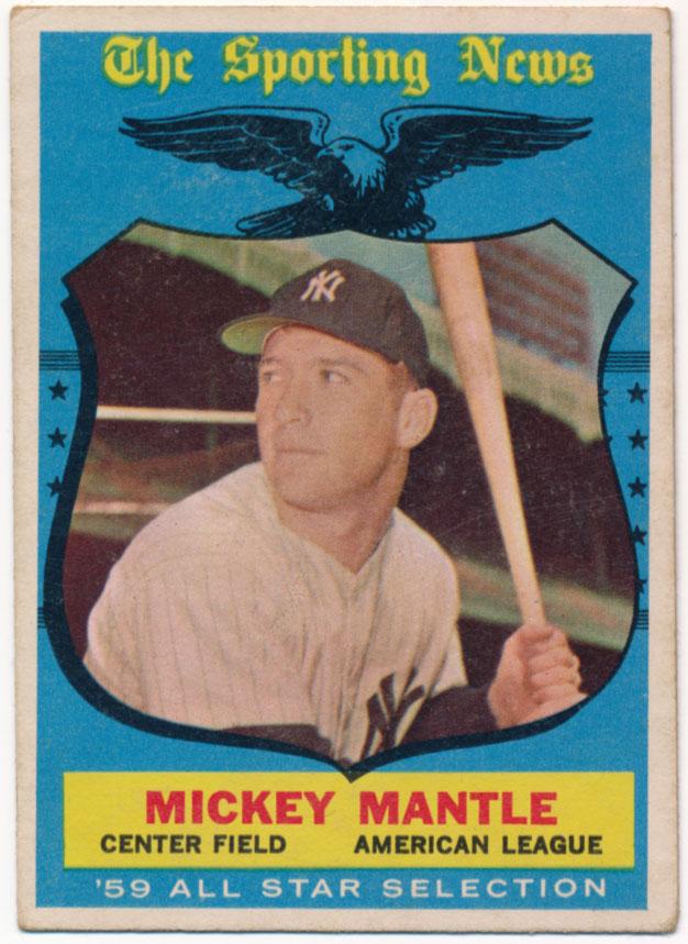 1959 Topps 564 Mantle AS VG+ ctd