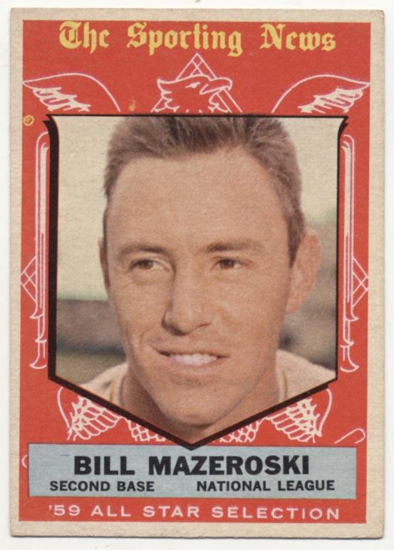 Lot #560 1959 Topps # 555 Mazeroski AS Cond: Ex