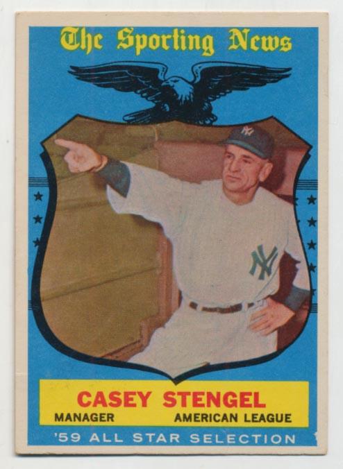Lot #565 1959 Topps # 552 Stengel AS Cond: Ex++