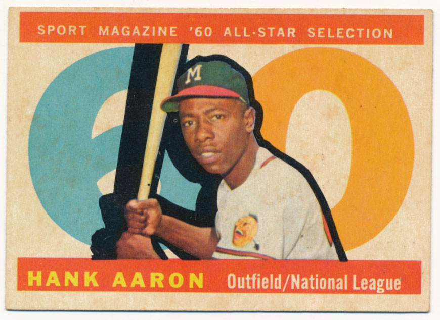 Lot #612 1960 Topps # 566 Aaron AS  Cond: Ex
