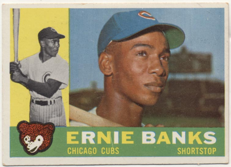 Lot #94 1960 Topps # 10 Banks Cond: Ex++