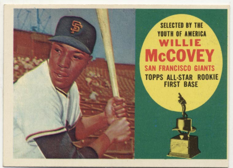 Lot #107 1960 Topps # 316 McCovey RC Cond: Ex-Mt
