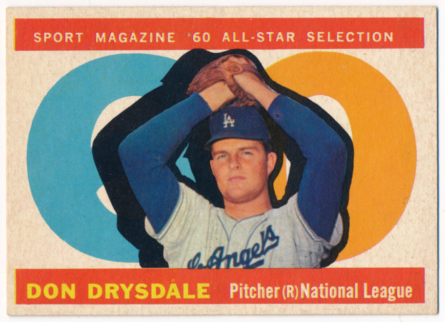 Lot #844 1960 Topps # 570 Drysdale AS Cond: Ex-Mt