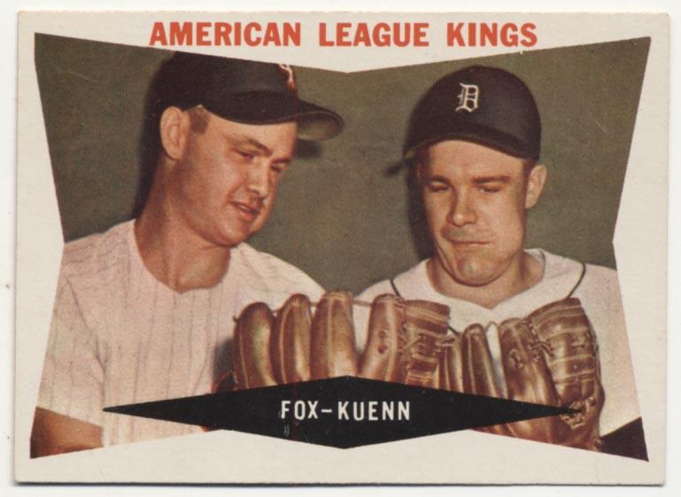 Lot #114 1960 Topps # 429 Fox/Kuenn Cond: NM