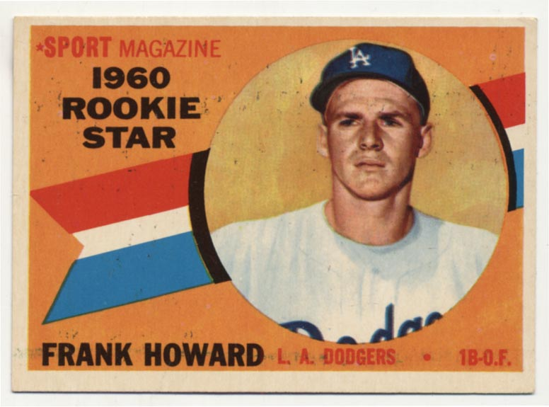 Lot #100 1960 Topps # 132 F Howard RC Cond: NM