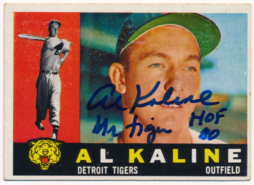 Lot #39 1960 Topps # 50 Kaline (JSA LOAA) Cond: 9.5 (great inscription)