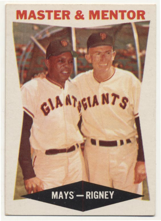 Lot #93 1960 Topps # 7 Mays/Rigney Cond: NM