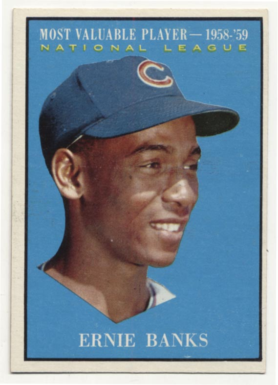Lot #190 1961 Topps # 485 Banks MVP Cond: Ex-Mt+