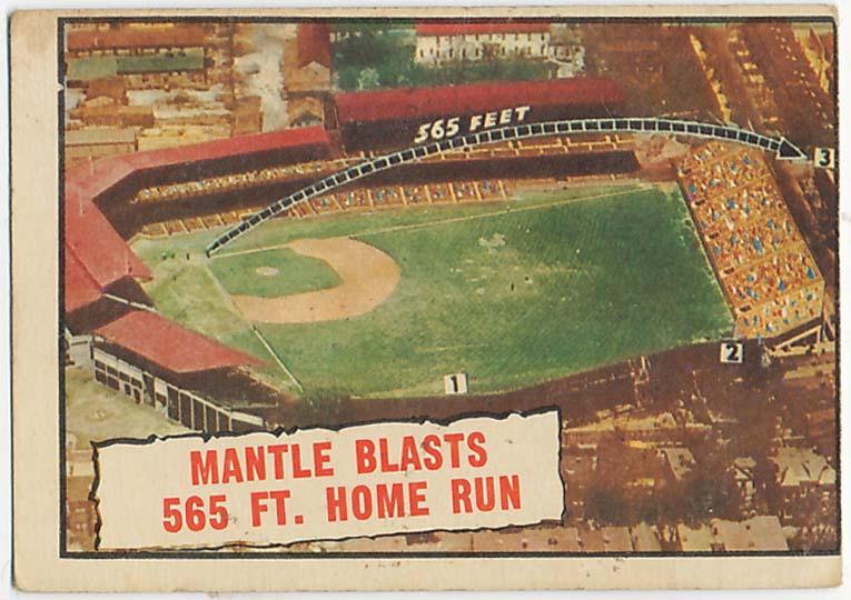 1961 Topps 406 Mantle 565 HR VG