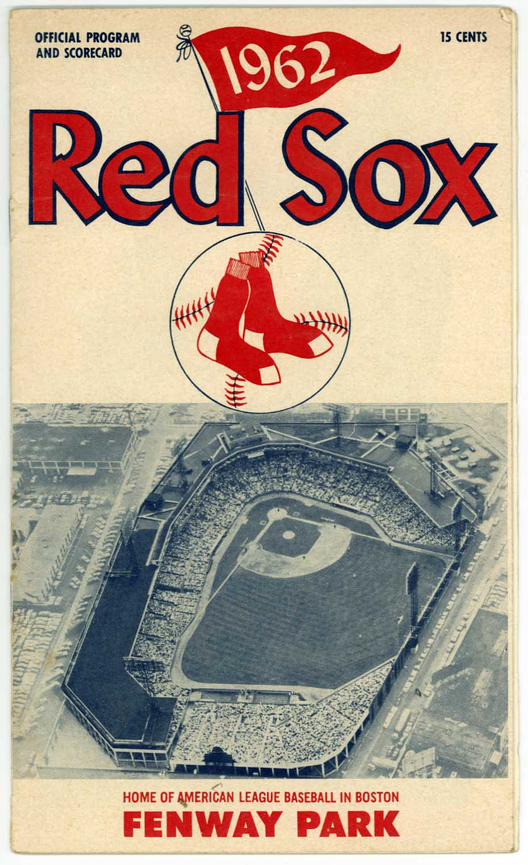 1962 Scorecard  Red Sox (scored vs Cleveland) Ex+