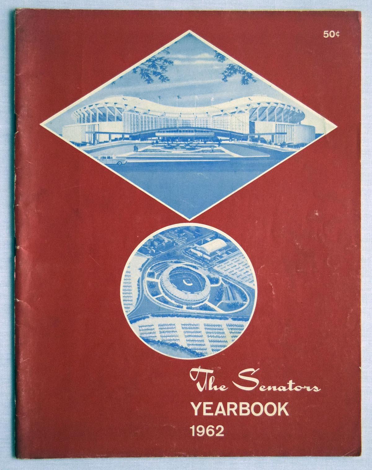 Lot #1745 1962 Yearbook  Washington Senators Cond: Ex+